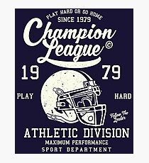 American Football Retro Vintage Photographic Print