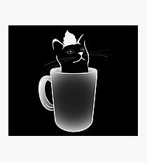 Iced White Chocolate Catto (Negative, For darker items colours) Photographic Print