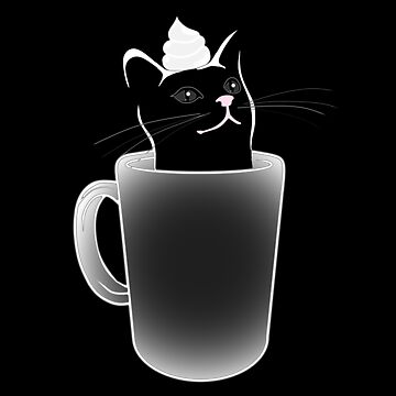 Iced White Chocolate Catto (For Dark Colored Items) by JZX1673