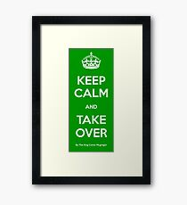 Conor Mcgregor Keep Calm And Take Over Framed Print