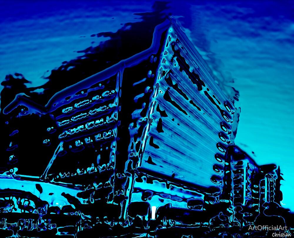 Melting Blue by ArtOfficialArt
