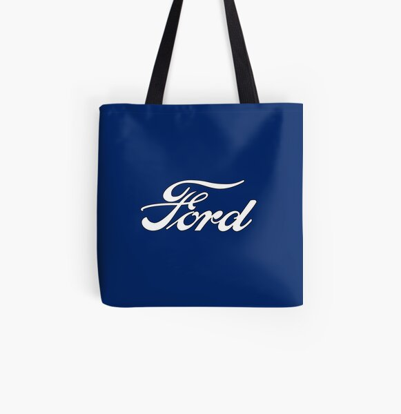 Classic Car Logos: Ford All Over Print Tote Bag