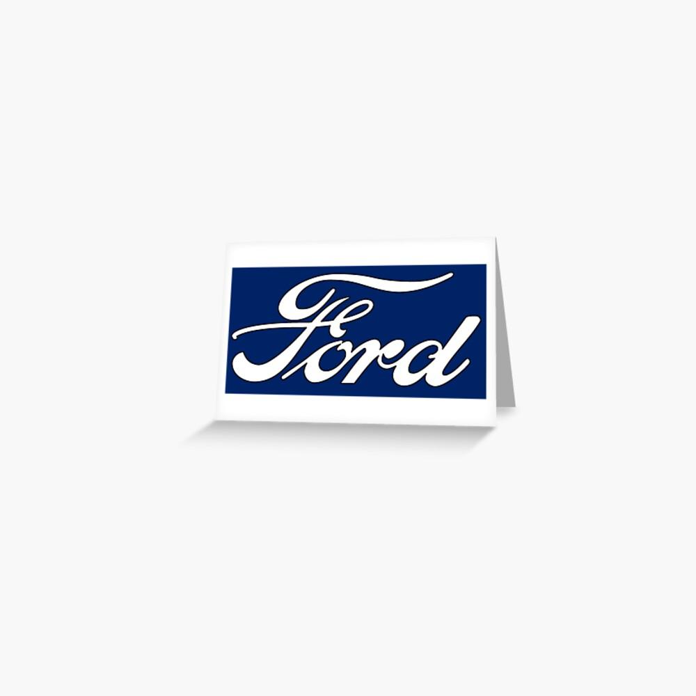Oldtimer-Logos: Ford Grußkarte