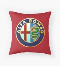 Alfa Romeo - Classic Car Logos Throw Pillow