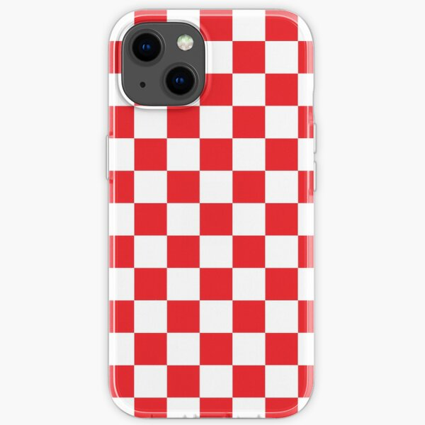 Red Checkered Pattern iPhone Soft Case