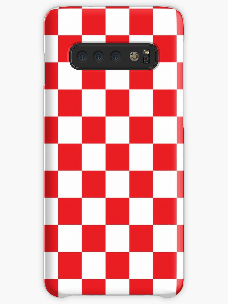 the latest 881d1 32822 'Red Checkered Pattern' Case/Skin for Samsung Galaxy by XanderOne