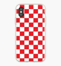 Red Checkered Pattern iPhone Case