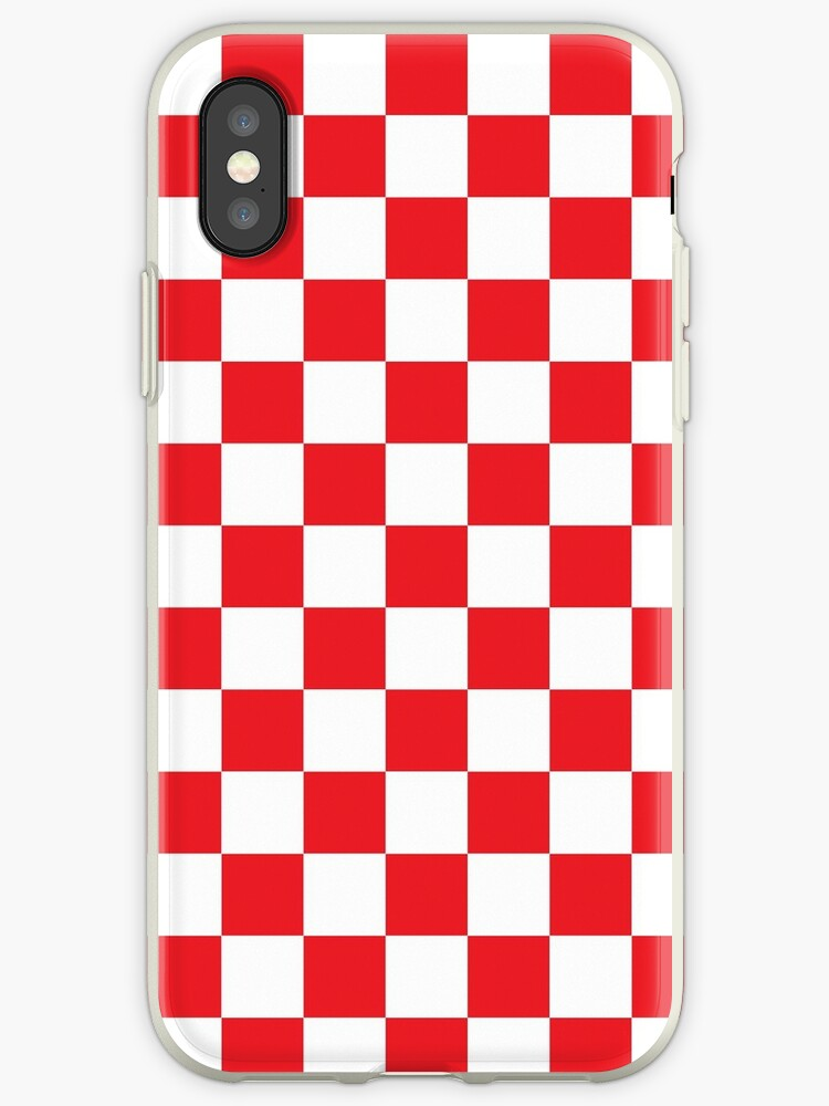 wholesale dealer 040e3 b8f27 'Red Checkered Pattern' iPhone Case by XanderOne
