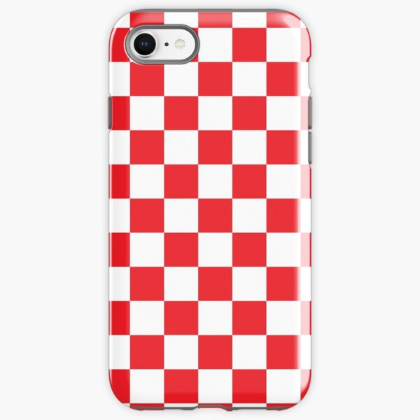 Red Checkered Pattern iPhone Tough Case