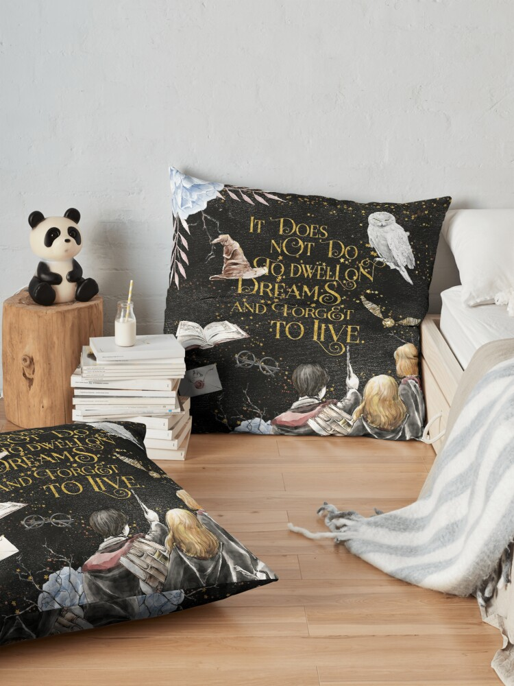 Alternate view of To Dwell on Dreams Floor Pillow