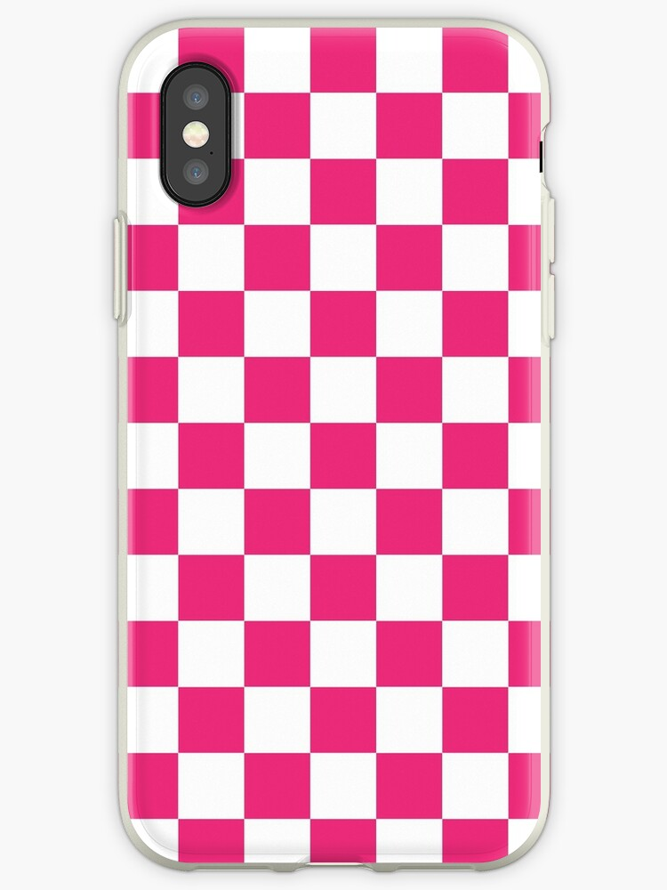pretty nice f381c 04d8f 'Pink Checkered Pattern' iPhone Case by XanderOne