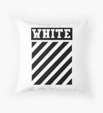 white black lines Throw Pillow