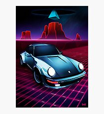 Porsche 911 - Neon Mesa Desert Photographic Print