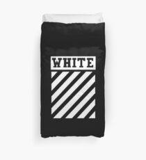 white white lines Duvet Cover