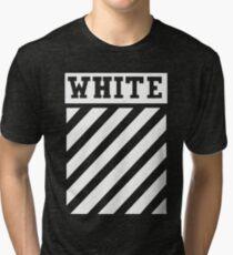 white white lines Tri-blend T-Shirt