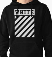 white white lines Pullover Hoodie