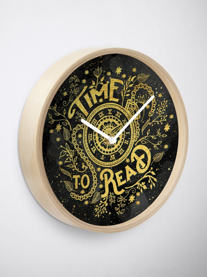 Time To Read Clock By Eviebookish Redbubble