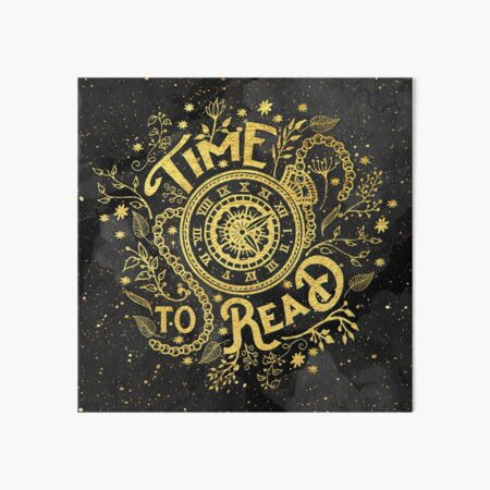 Time to Read Art Board Print