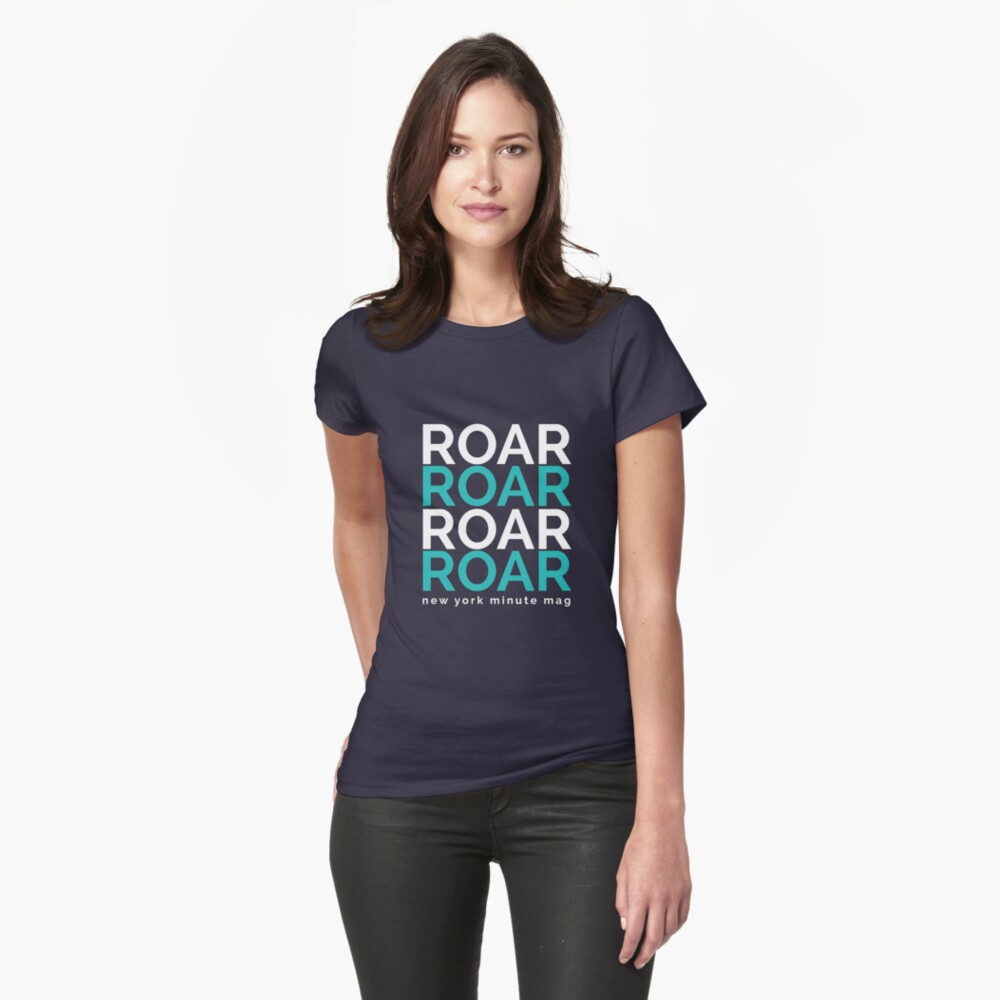 Roar- white and blue Womens T-Shirt Front