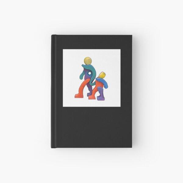 Joyful Spirit on White Hardcover Journal