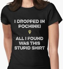 PUBG - Dropped in Pochinki Women's Fitted T-Shirt