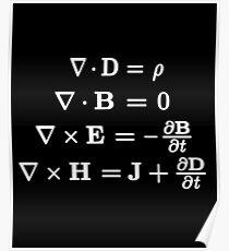 Maxwells Gleichungen Poster