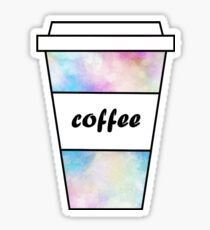 Watercolor Coffee Cup Sticker