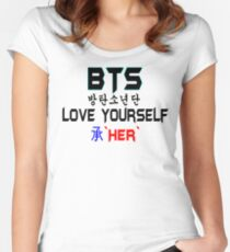 ♥♫BTS-Bangtan Boys-Love Yourself-'Her'♪♥ Women's Fitted Scoop T-Shirt