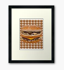 BURGER  HAMBURGER CHEESEBURGER  Framed Print