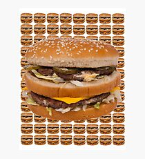 BURGER  HAMBURGER CHEESEBURGER  Photographic Print