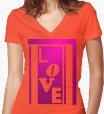 L, ove Women's Fitted V-Neck T-Shirt