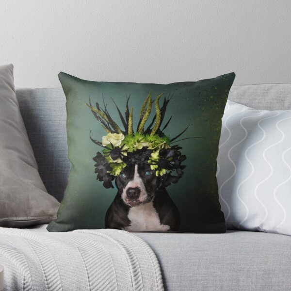 Flower Power, Darla Throw Pillow