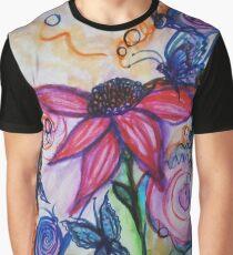 Whimsical Wonders Botanical Graphic T-Shirt