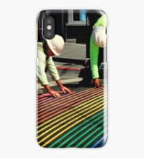 Laying It On The Lines iPhone Case/Skin