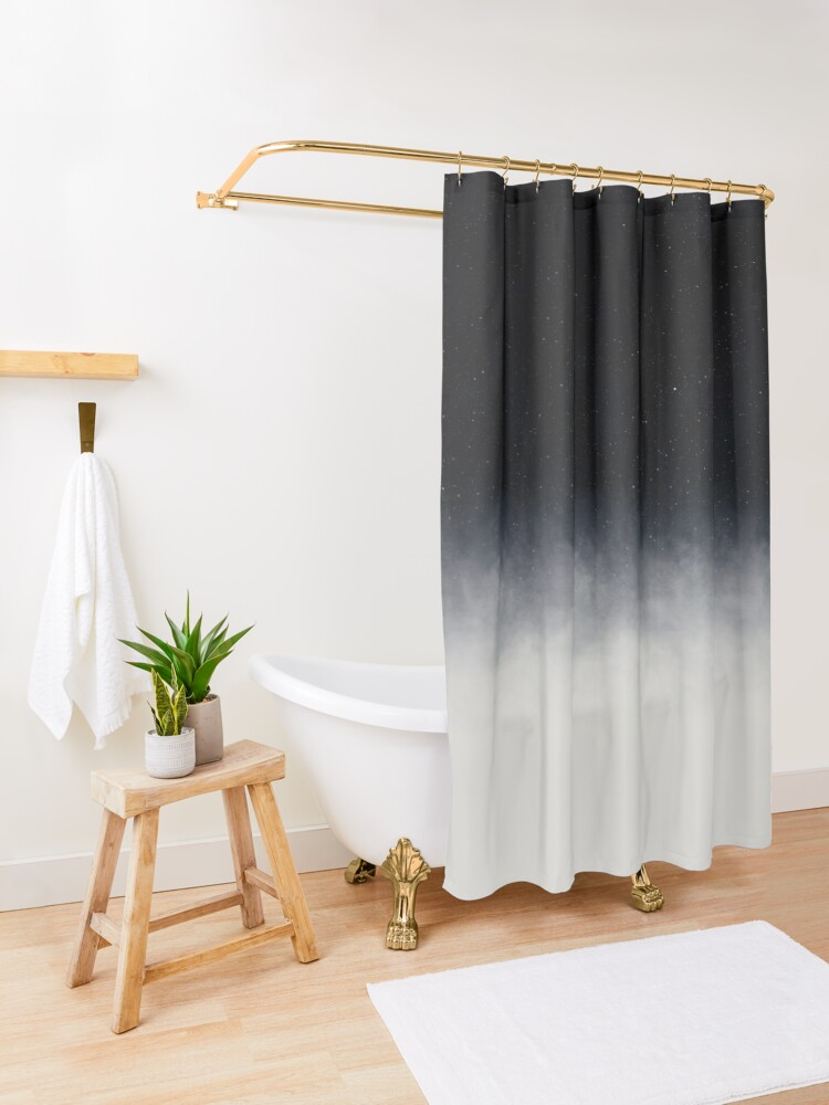 Alternate view of After we die Shower Curtain