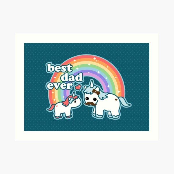 Best Unicorn Dad Art Print
