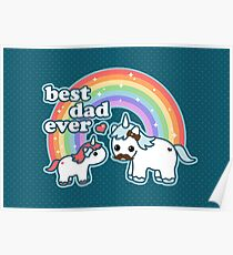 Best Unicorn Dad Poster