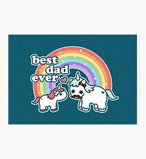 Best Unicorn Dad Photographic Print
