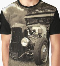 1929 Ford, Model A - black white Graphic T-Shirt