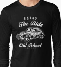 VW Beetle Car Retro Vintage Long Sleeve T-Shirt