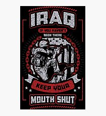 Iraq War Veteran Photographic Print