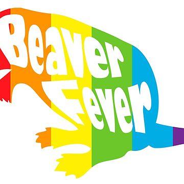Beaver Fever Lesbian Funny by gyenayme
