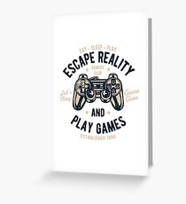 Video Game Retro Vintage Greeting Card