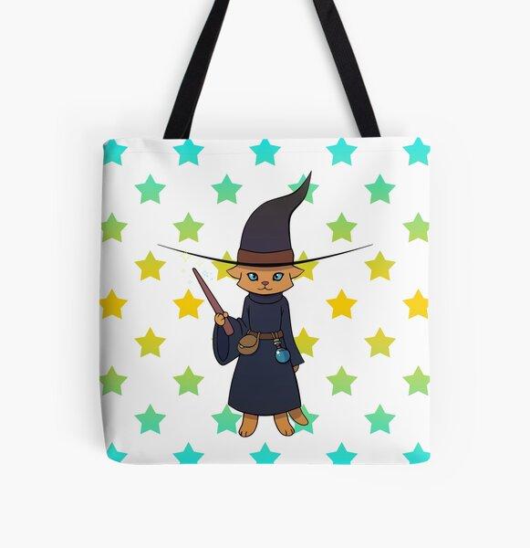 Zauberkatze Allover-Print Tote Bag