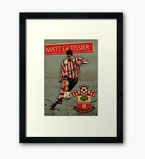 Matt Le Tissier - Vintage poster Framed Print