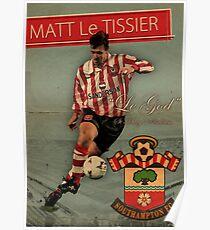 Matt Le Tissier - Vintage poster Poster