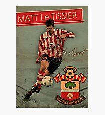 Matt Le Tissier - Vintage poster Photographic Print