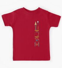Ancient Egyptian Life Prosperity Health Hieroglyphic Blessing Vertical on Stone Kids Clothes