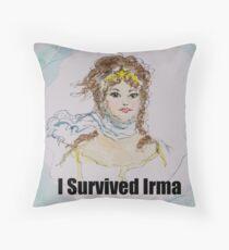I Survived Irma Throw Pillow