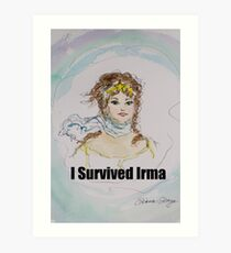 I Survived Irma Art Print